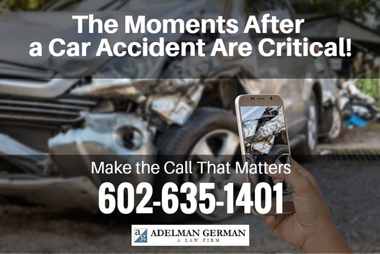 The moments after a car accident are critical!