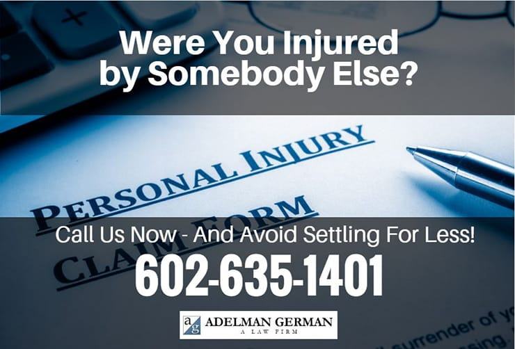 Were you Injured by Somebody else?